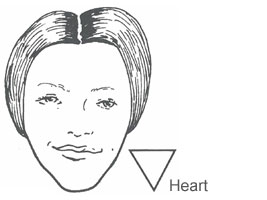 Face shape heart