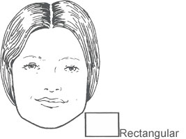 Face shape Rectangular