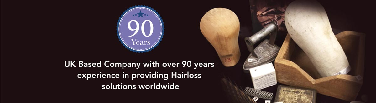 UK company with 90 years experience in providing hair loss solutions worldwide